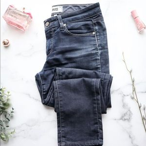 PAIGE Jeans Blue Med-Dark Wash Skyline Skinny